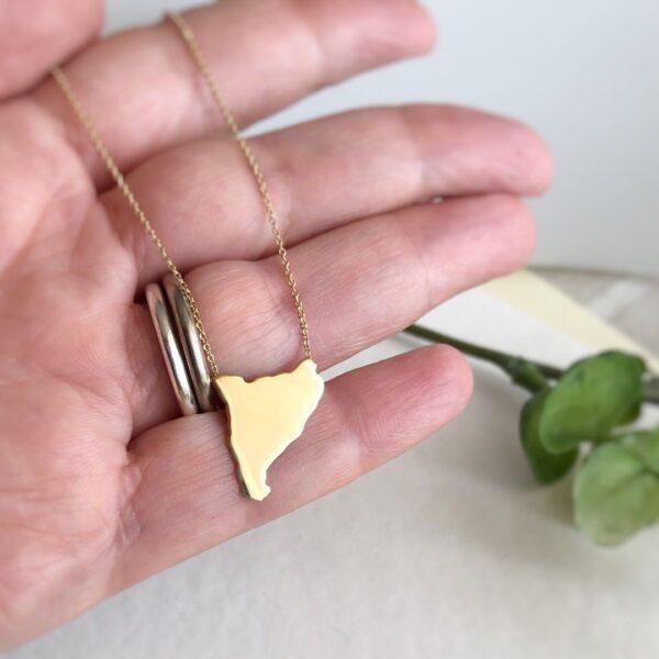 collar catalunya oro hecho a mano
