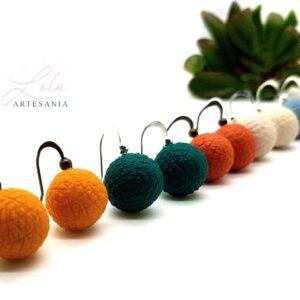 lola artesania pendientes textura