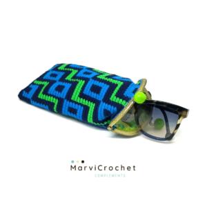 Marvicrochet funda de gafas azul Proyectos Bonitos