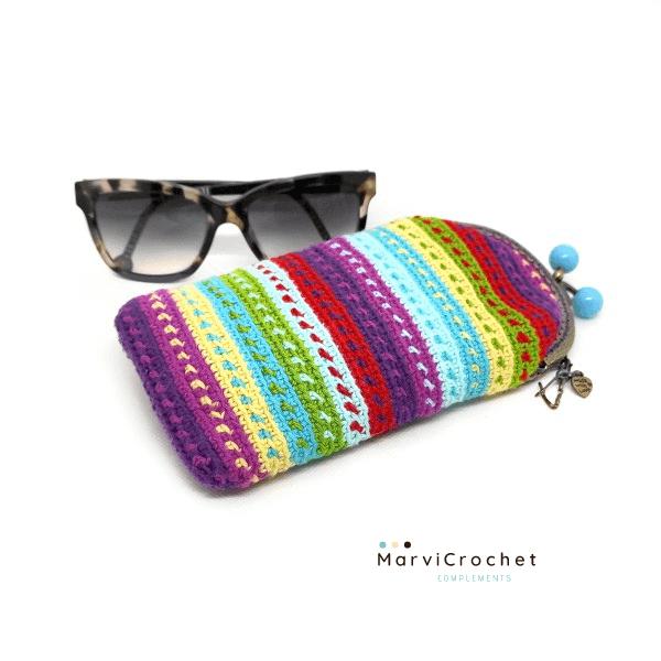 Marvicrochet funda de gafas colores Proyectos Bonitos