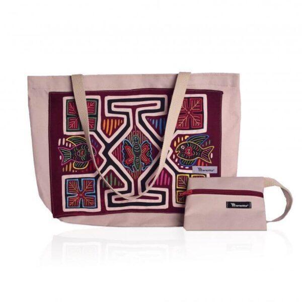 bolso hecho a mano Marielita color