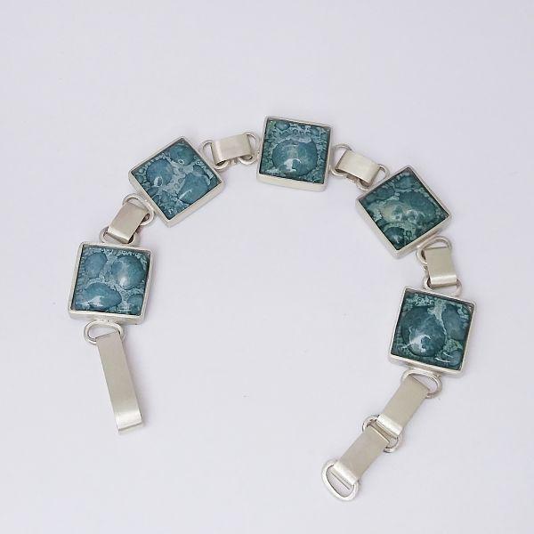 pulsera natalia morbelli vidrio y plata
