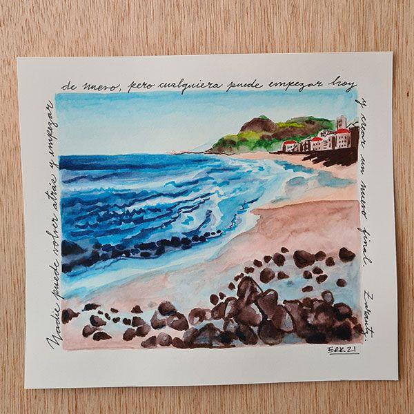 Alaiak ilustración mar tranquilo